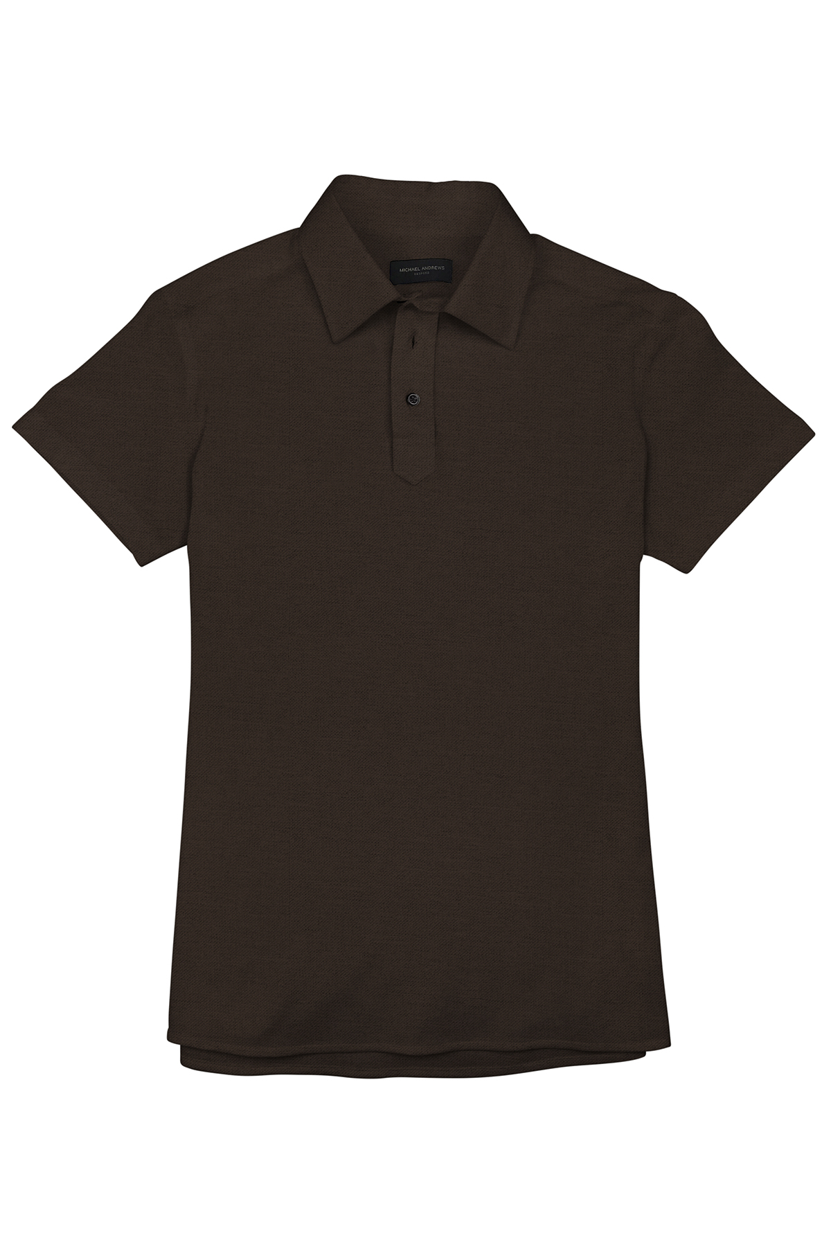Brown Pique Short Sleeve Polo Shirt