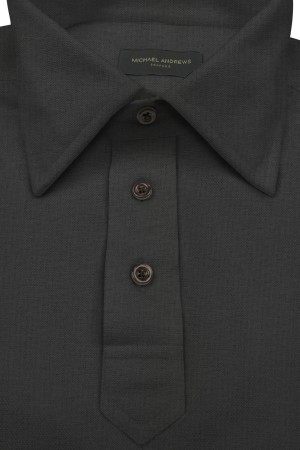 Charcoal Pique Short Sleeve Polo Shirt
