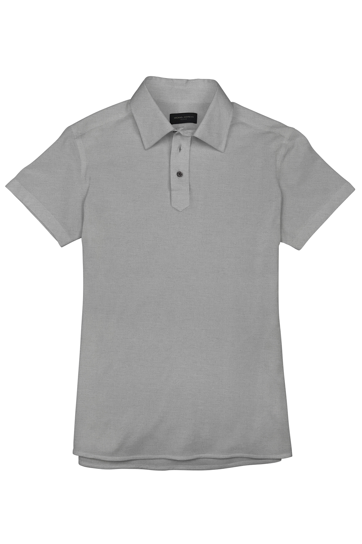 Taupe Grey Pique Short Sleeve Polo Shirt