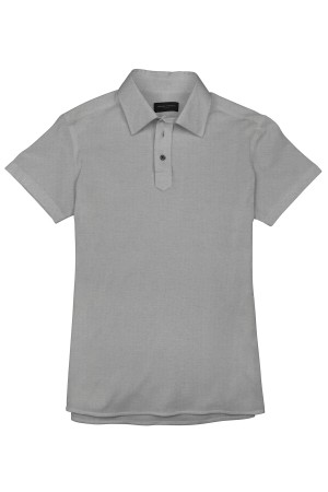 Light Grey Pique Short Sleeve Polo Shirt