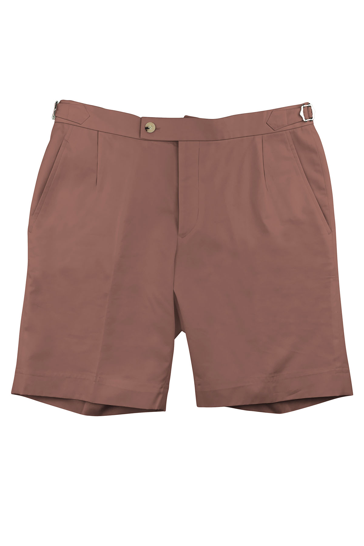 Burnt Salmon Cotton Shorts