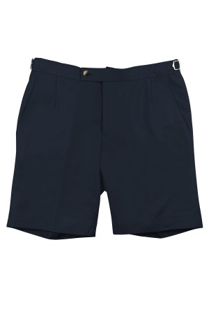 Navy Cotton Shorts