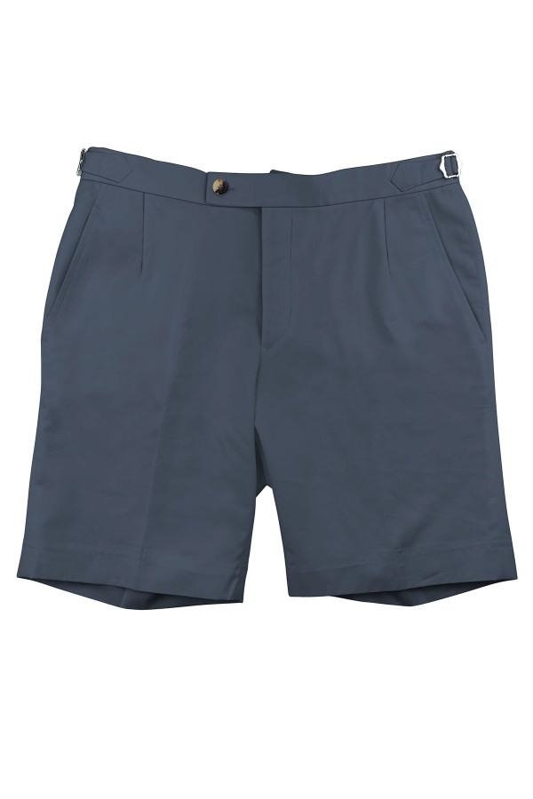 Marine Blue Cotton Shorts