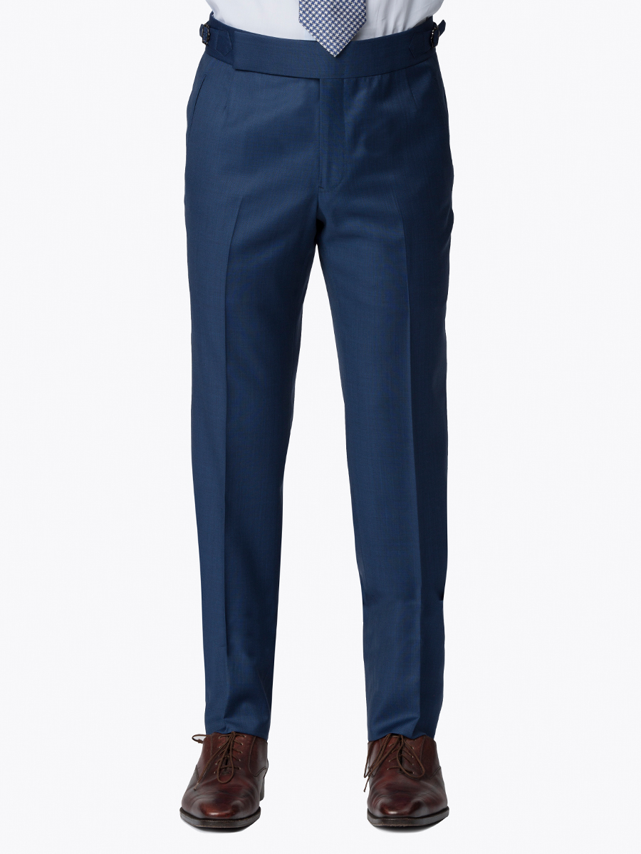 Marine Blue Sharkskin Bespoke Trouser