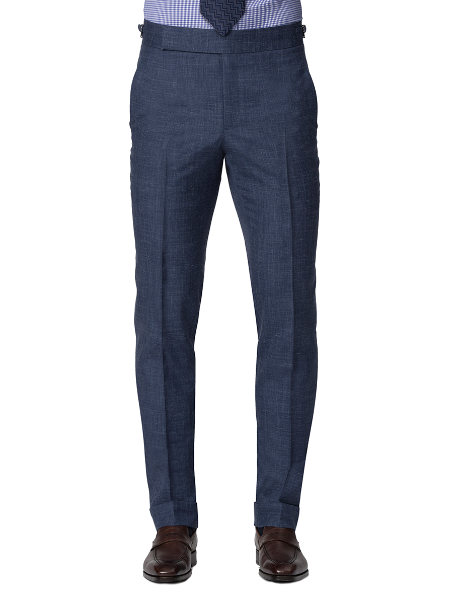 DENIM CHAMBRAY HOOK & EYE TROUSER