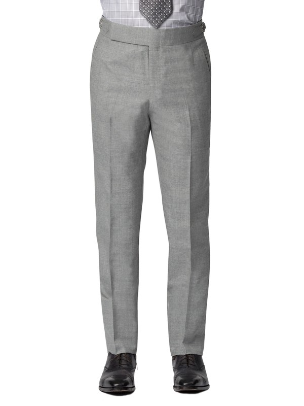 Light Grey Sharkskin Bespoke Trouser