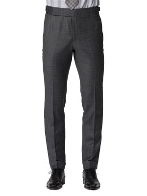 GREY MACRO WINDOWPANE SUIT