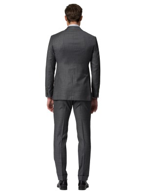 Grey Macro Windowpane Bespoke Suit