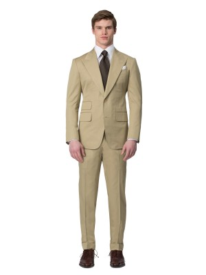 Khaki Cotton Bespoke Suit