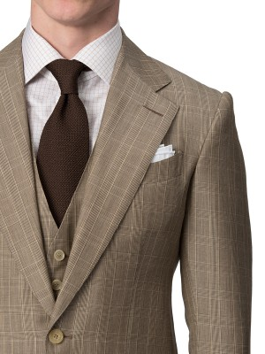 Tobacco Melange Glen Check Bespoke Suit