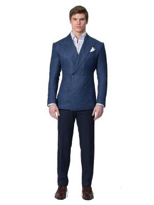 Navy Cotton Bespoke Trouser