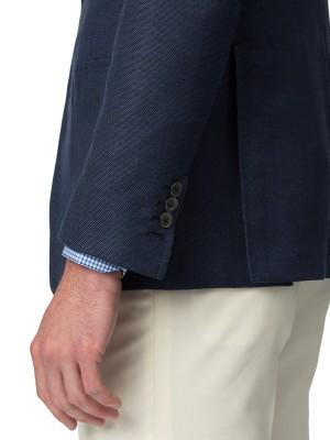 Navy Mohair Hopsack Bespoke Sport Coat