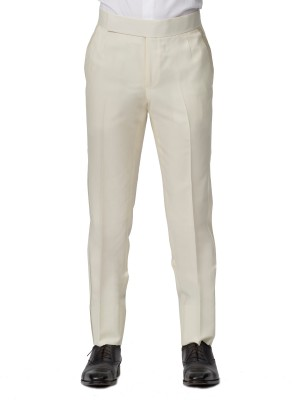 Cream Bespoke Formal Trouser