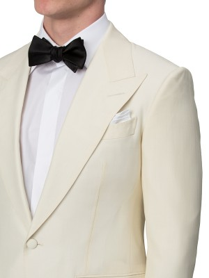 Ivory Mohair & Silk Bespoke Dinner Jacket