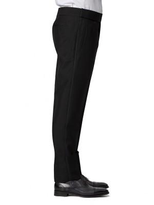 BLACK MOHAIR CLASSIC HOOK & EYE TUXEDO TROUSER