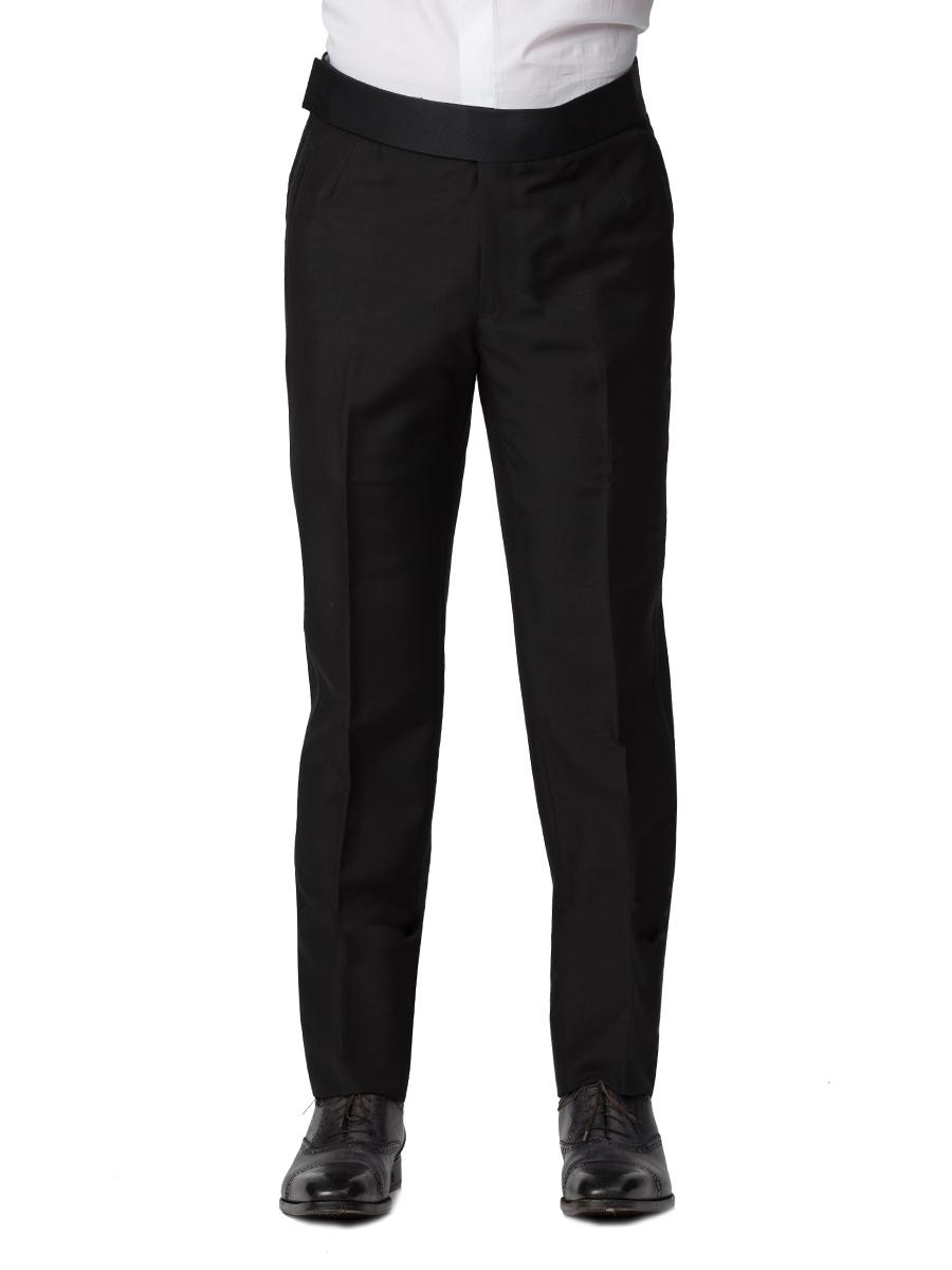 Black Mohair Classic Bespoke Tuxedo Trouser