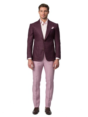 Berry Wool & Silk Hopsack Bespoke Sport Coat