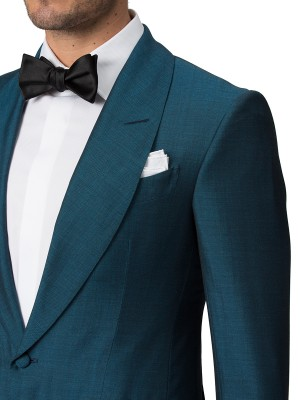 Emerald Mohair & Silk Bespoke Dinner Jacket