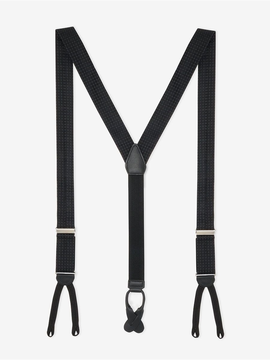 Formal Black Andora Suspenders