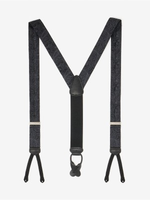 Formal Medford Black Paisley Suspenders