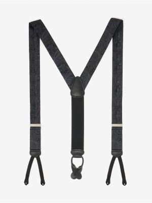 Formal Medford Black Paisley Suspenders