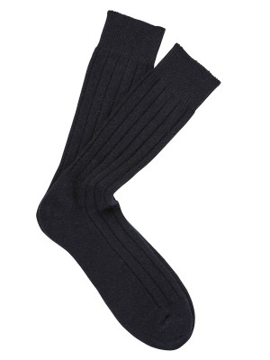 Cashmere Dress Socks Navy
