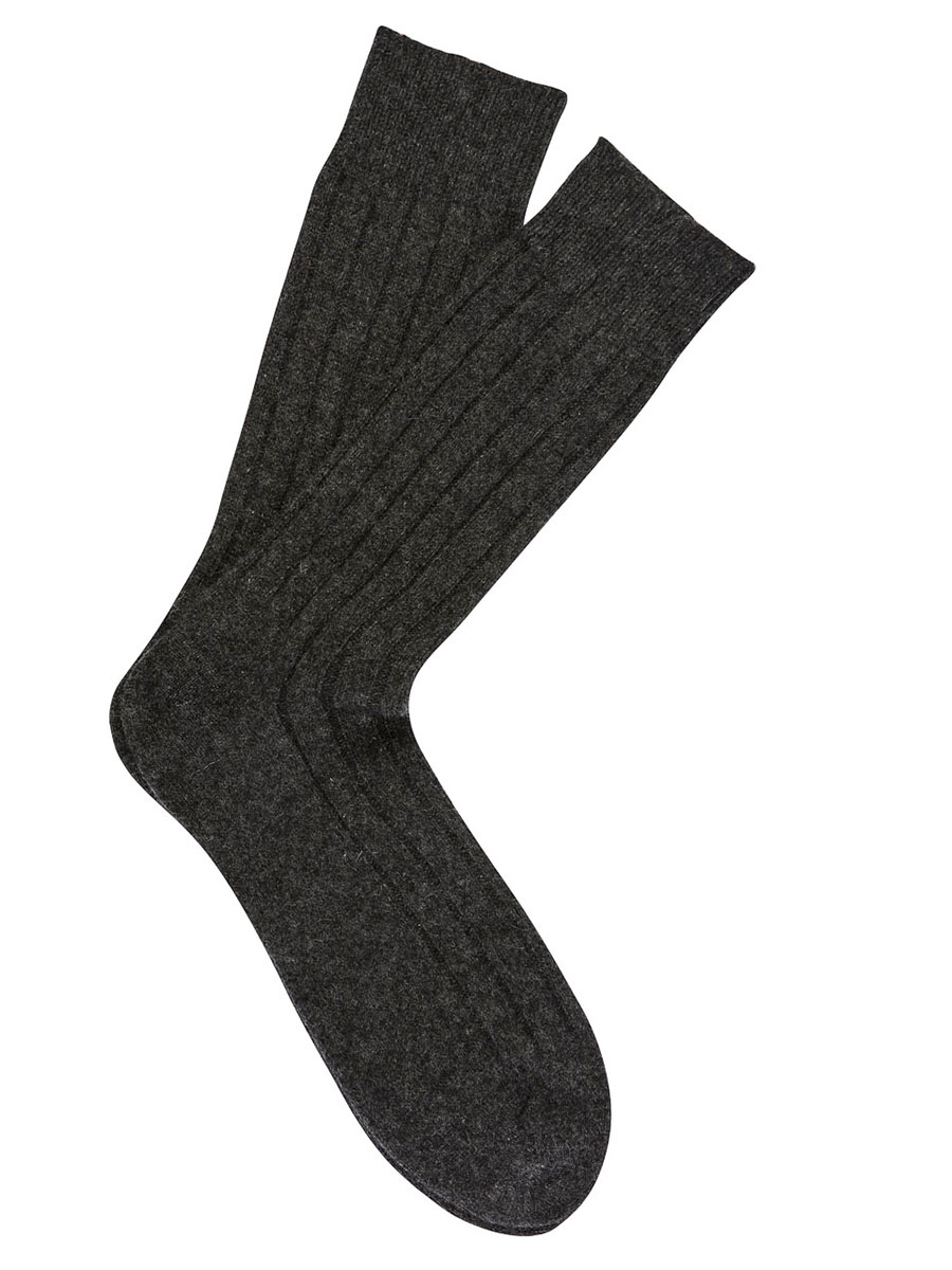 Cashmere Dress Socks Charcoal