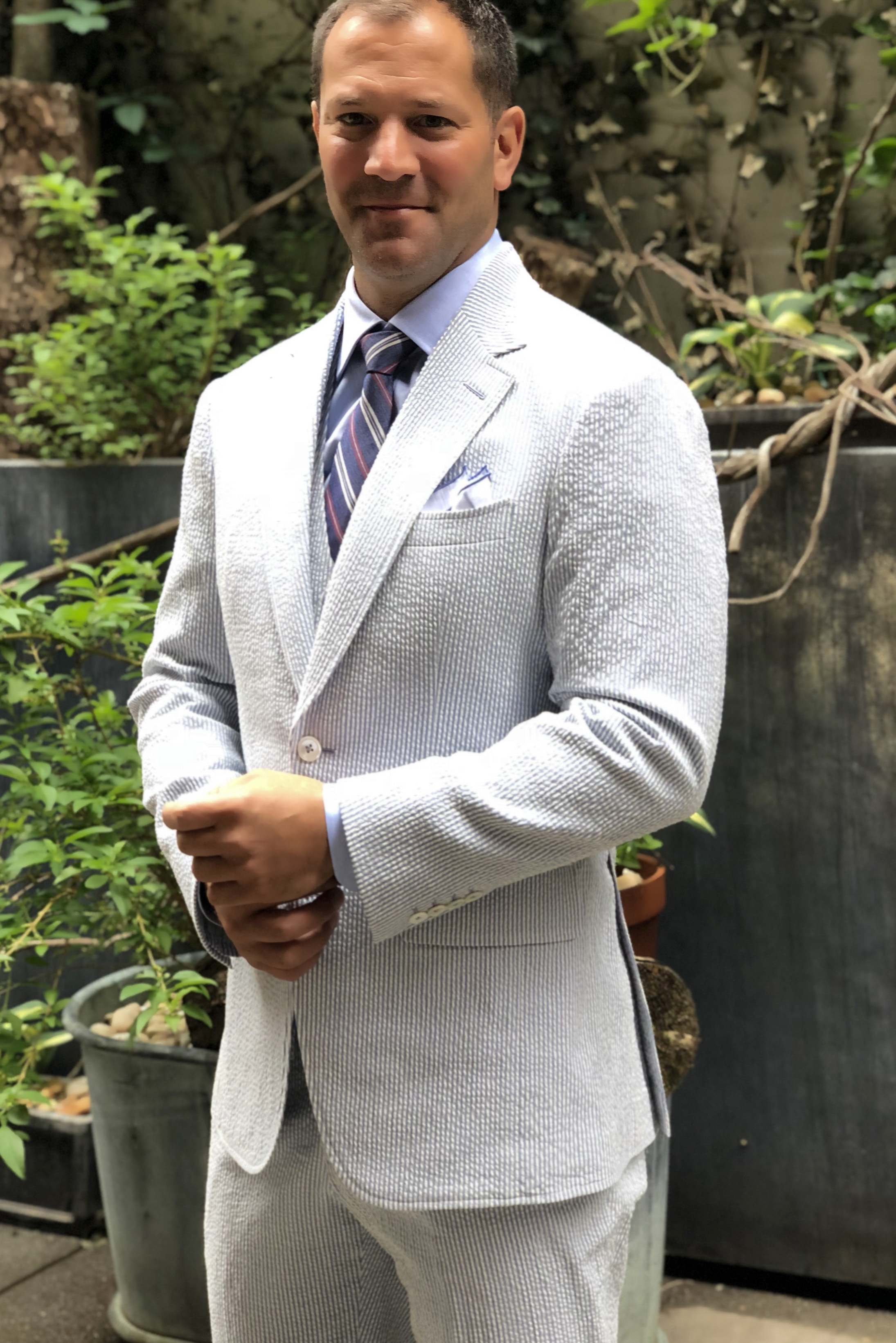 Blue Classic Seersucker Suit