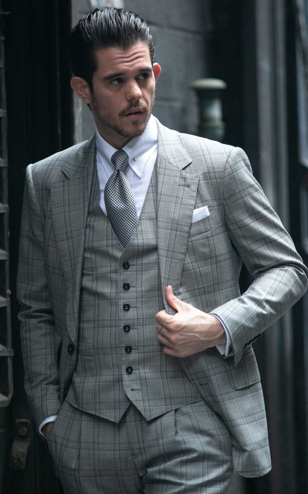 Black & White Hopsack Glencheck Suits