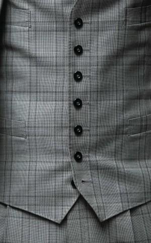 Black & White Hopsack Glencheck Suits