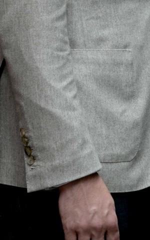 Cream Twill Bespoke Jacket