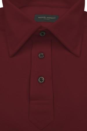 Burgundy Pique Polo Shirt