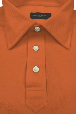 Orange Pique Polo Shirt