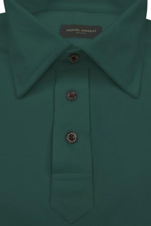 Hunter Green Pique Polo Shirt