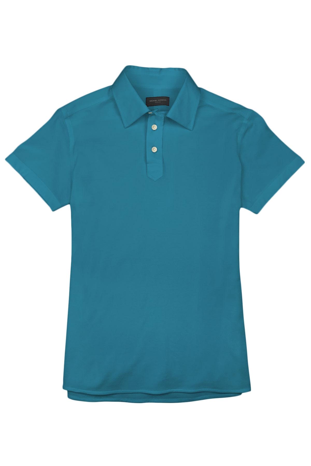 Teal Pique Polo Shirt