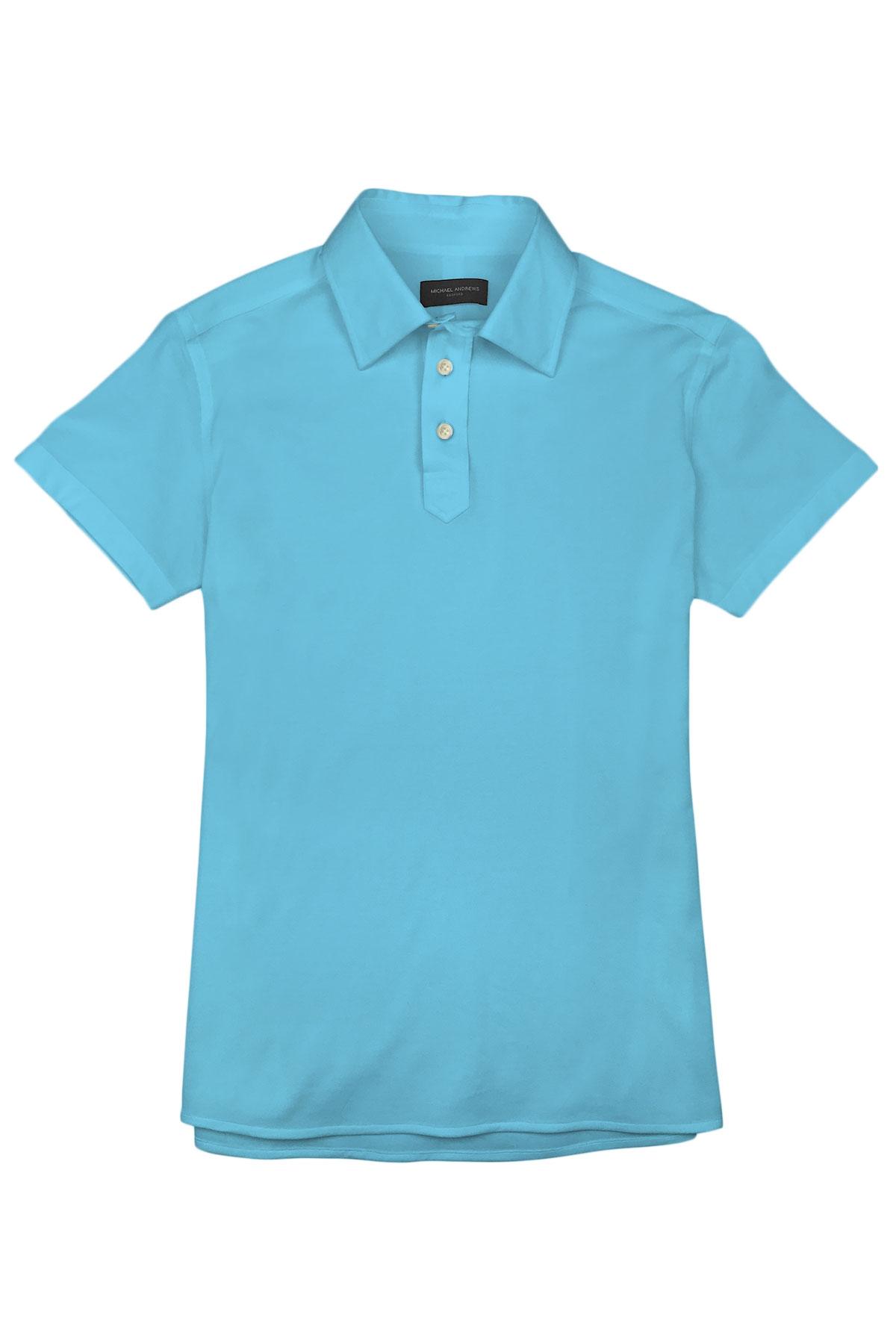 Maya Blue Pique Polo Shirt