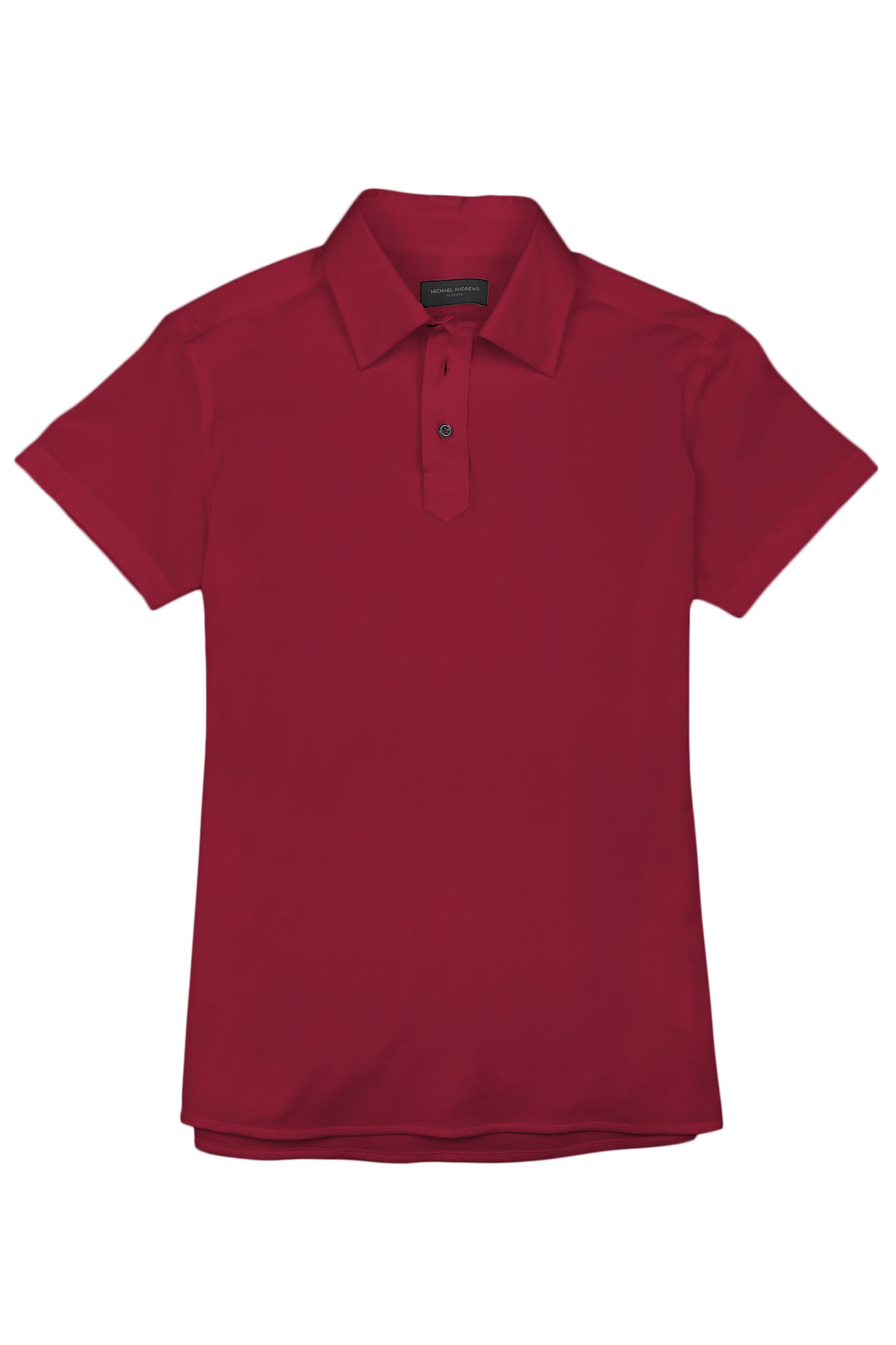 Dark Red Pique Polo Shirt