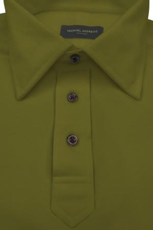 Army Green Pique Polo Shirt