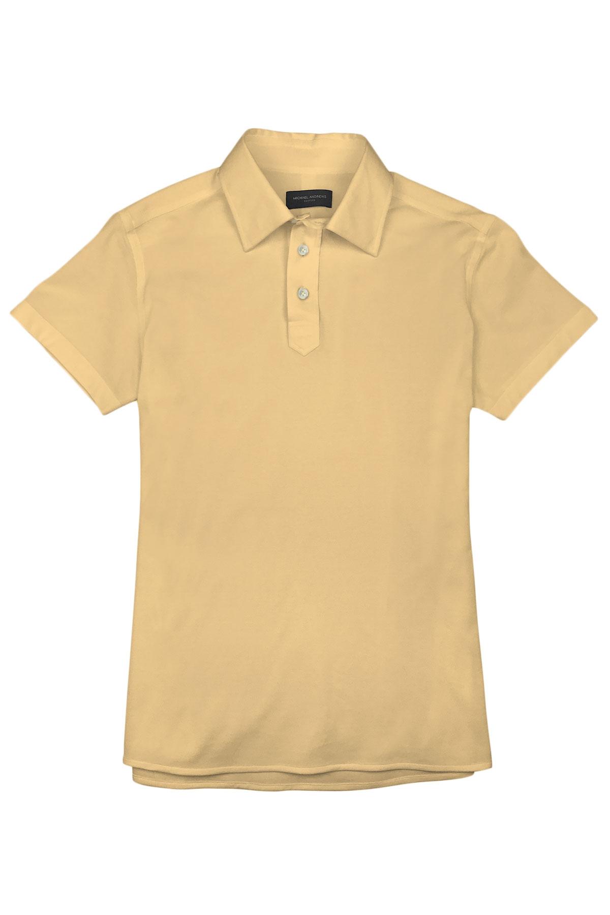 Pale Yellow Pique Polo Shirt