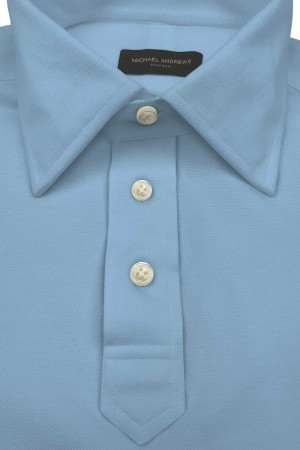 Carolina Blue Pique Short Sleeve Polo Shirt