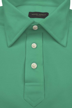 Mint Green Pique Polo Shirt