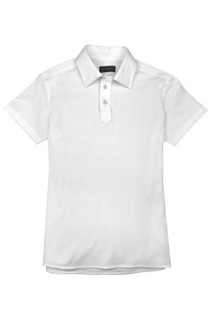 White Pique Short Sleeve Polo Shirt