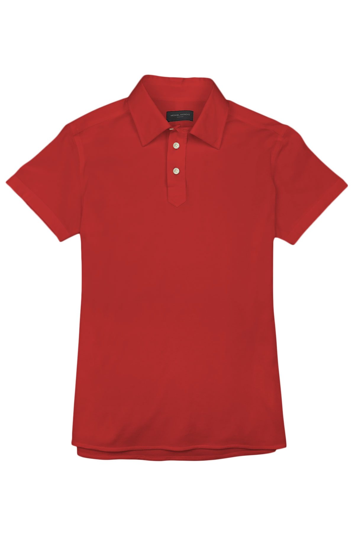 Bright Red Pique Polo Shirt
