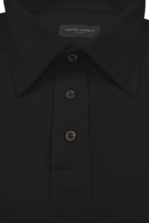 Black Pique Polo Shirt