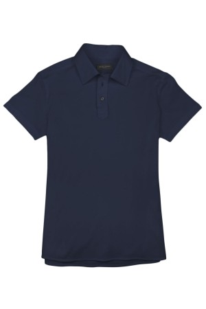 Navy Blue Pique Polo Shirt