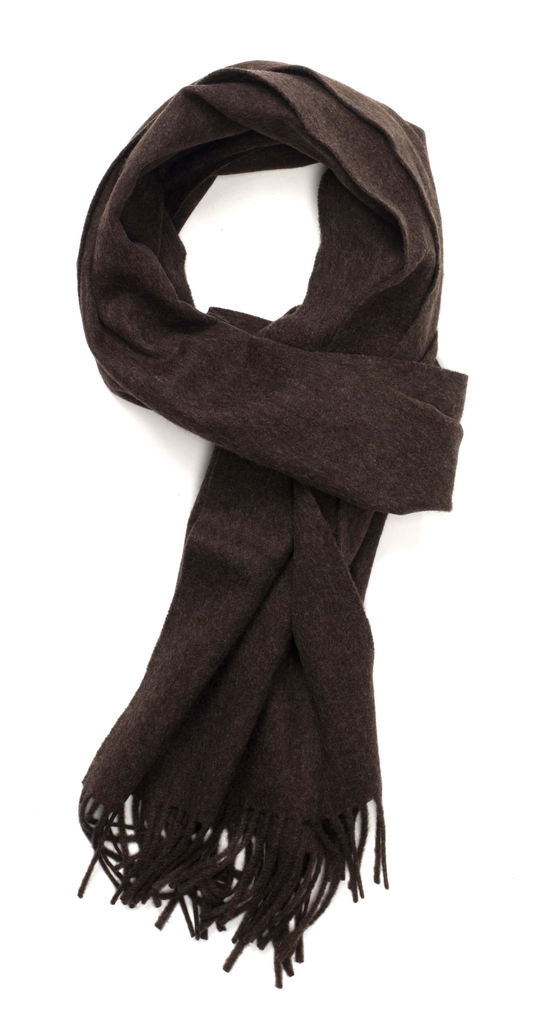Dark Brown Solid Escorial Scarf