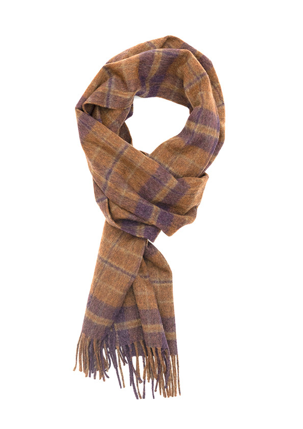 Plum, Pipit & Brown Auckland Check Escorial Scarf