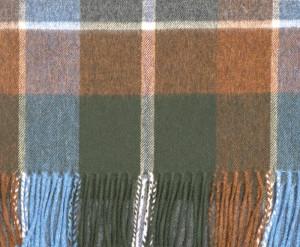 Brown, Oatmeal & Scotia Green Auckland Check Escorial Scarf
