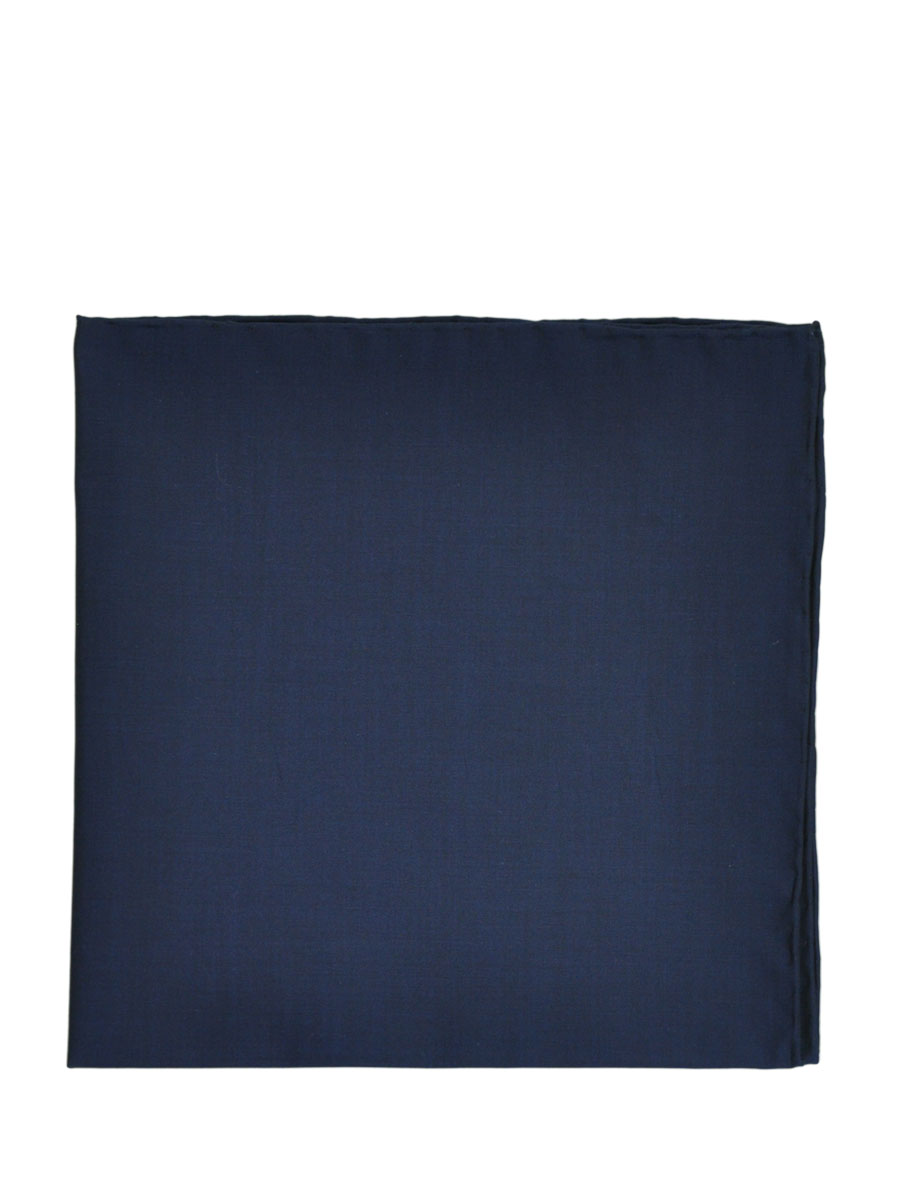 Dark Blue Solid Poplin Pocket Square