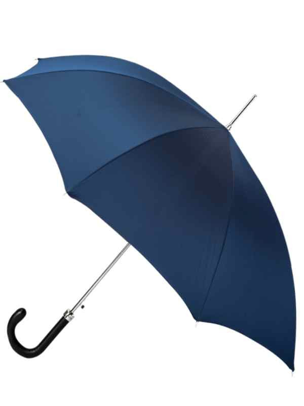 Blue Umbrella w Leather Handle (In-Stock)